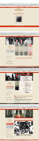Site internet du Château Palais Cardinal, Saint-Emilion Grand Cru