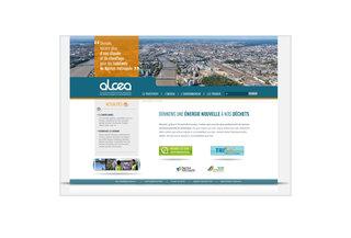 Site internet d'Alcea, centre de traitement et de valorisation des déchets ménagers de Nantes Métropole