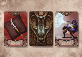 Illustration de cartes, projet de jeu
