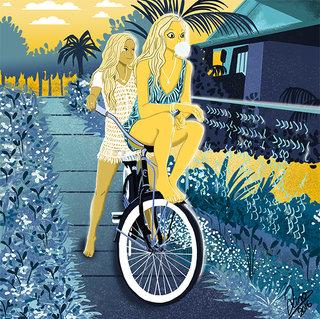 Deux filles à vélo