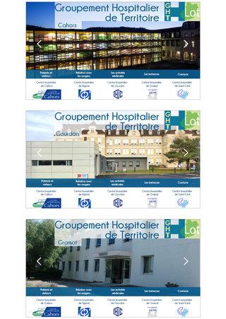 Maquette du site de l'Hôpital du groupement hospitalier du Lot
