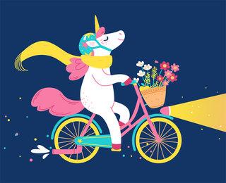 Licorne à vélo