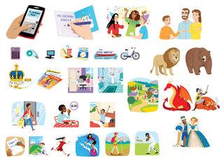 Vignettes pour manuel d'anglais 5ème