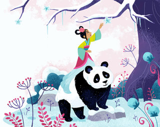 Princesse et panda