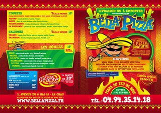 Flyer Bella Pizza