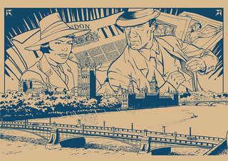 Maquette Pages de garde Harry Dickson