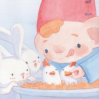Un Repas chez les lapins de Pâques - Editions La Palissade