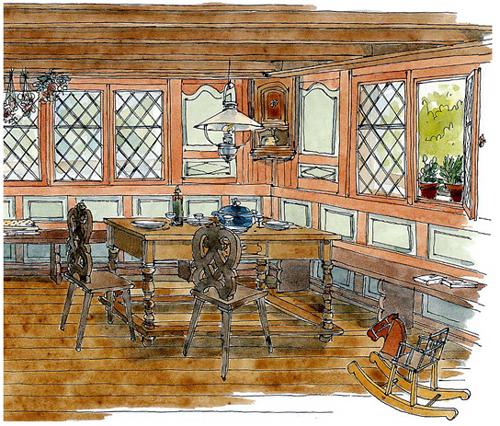 Escaliers Vosges: Lise Herzog Illustrations Portfolio :Tourisme-Architecture