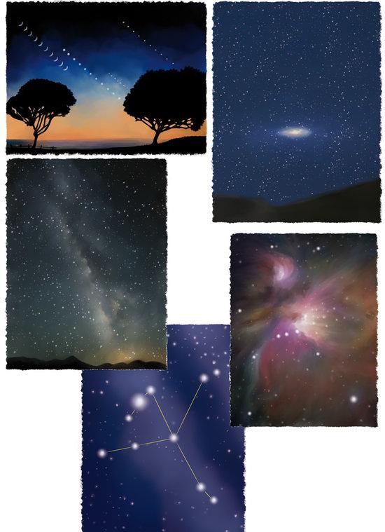 Le ciel et les étoiles