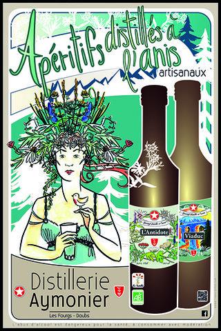 Affiche Distillerie Aymonier-Semilla