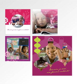 Projet carte de vœux Association Toutes à l'école