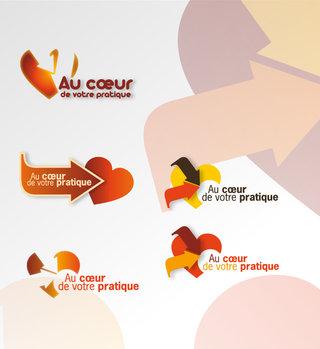 """Logo """"Au cœur de votre pratique"""""""