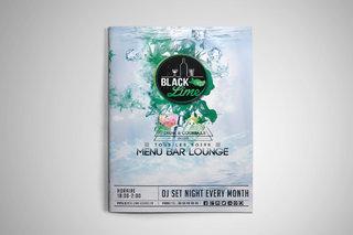 Création graphisme couverture du Menu black lime