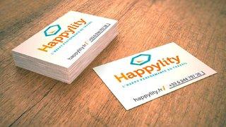 Création graphisme Carte de visite Happylity