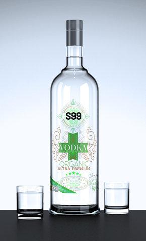 Création étiquette Vodka BBC Wine