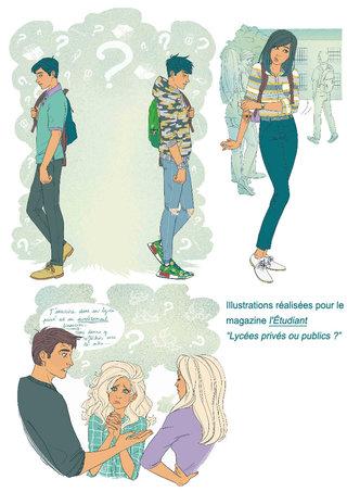 Illustrations L'étudiant magazine
