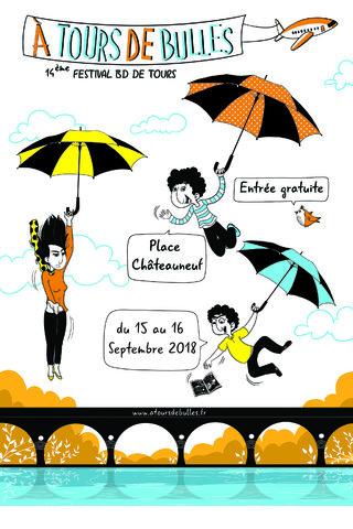 Affiche du Festival BD de Tours