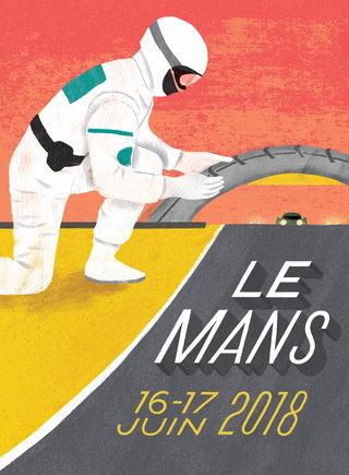 poster pour le  24h du Mans