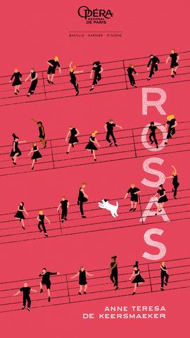 """poster pour l'Oper de Paris - spectacle """"Rosas"""""""