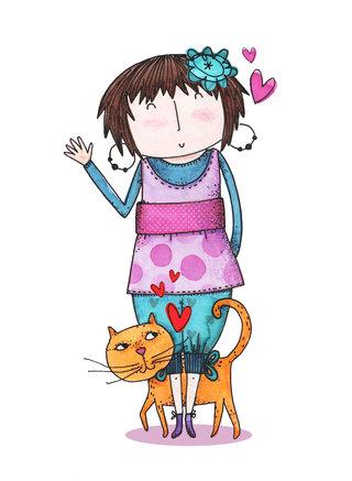 Miss Grignette et son chat