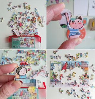 La rue animée - puzzle