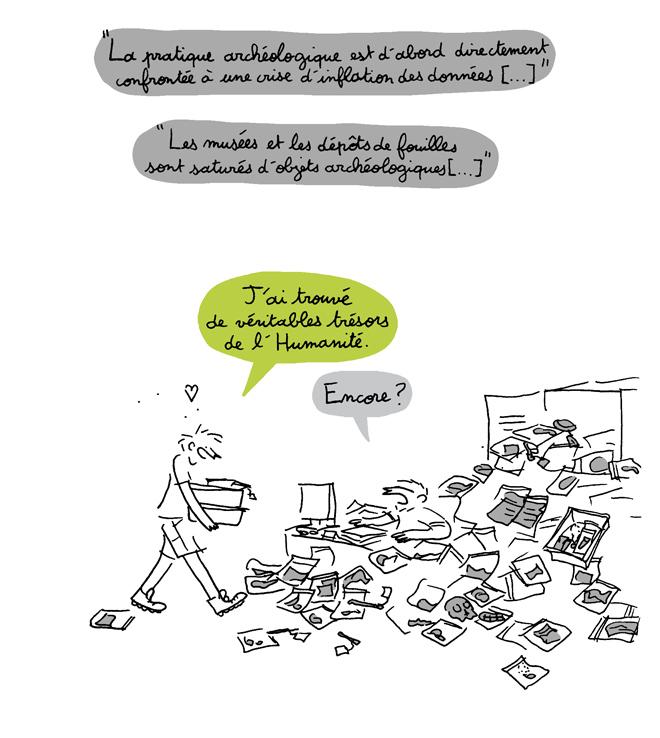 Illustration d'après Le sombre abîme du temps de Laurent Olivier, 2014.