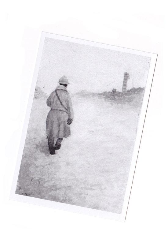Illustration pour le livre Vestiges de guerre en Lorraine, le patrimoine des conflits mondiaux aux éditions Serpenoise, 2011.