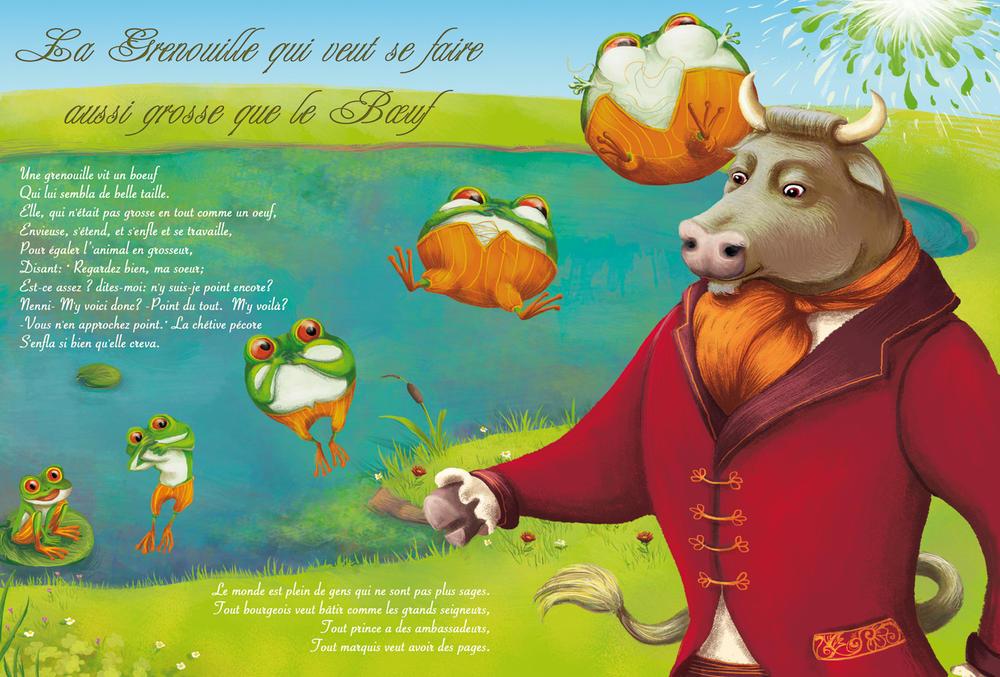 Macaro macaron portfolio pour les plus jeunes youngsters - Image la grenouille et le boeuf ...