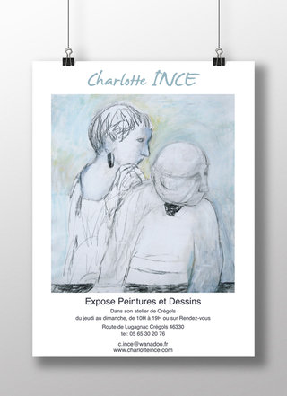 Affiche exposition Charlotte Ince