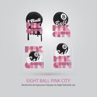 Logo Eight Ball Pink City