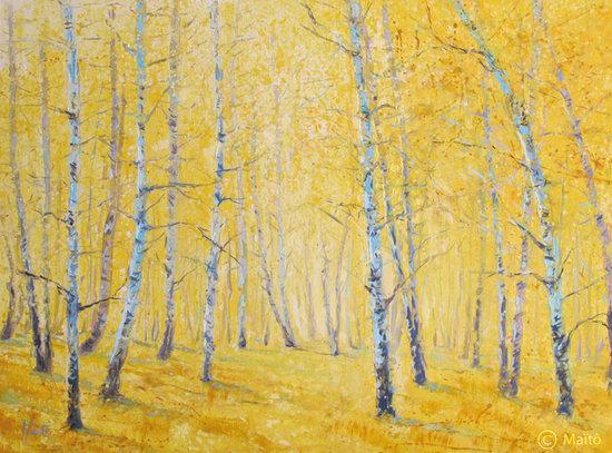 """""""Forêt jaune (n°1)"""", 2014"""