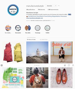 Aperçu page Instagram - Image de marque