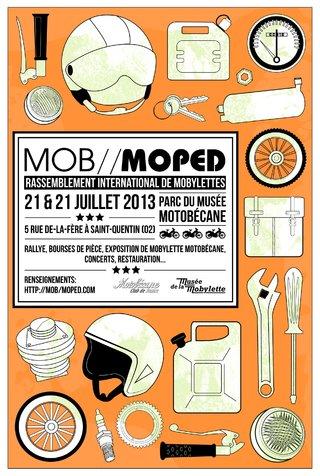 Affiche de festival MOB//MOPED