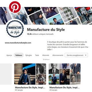 Manufacture du Style - Pinterest