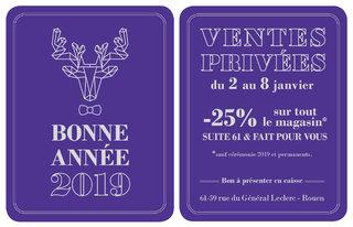 Flyer Ventes Privées janvier 2019
