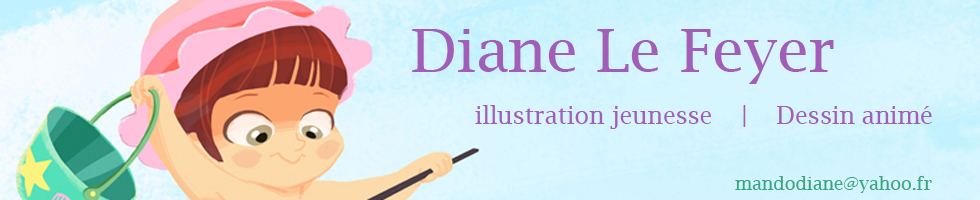 Diane Le Feyer- mandodiane-illustration dessin- animéCV resume : RESUME English