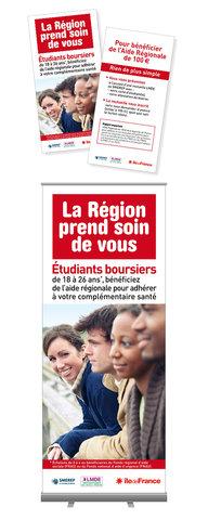 Flyers et Kakémono pour La Région Ile de France
