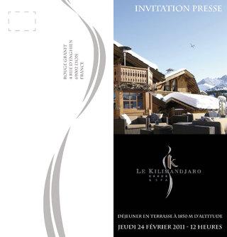 Invitation pour l'hôtel Le Kilimandjaro 2