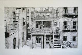 Fenêtre sur cour - A. Hitchcock (Encre de Chine)