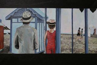 Mort à Venise - L. Visconti (acrylique sur toile) 45x60cm
