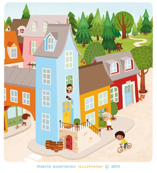 village de Boucle d'or, détail / Goldilocks'  village, detail