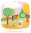 la petite poule rousse / the little red hen / detail