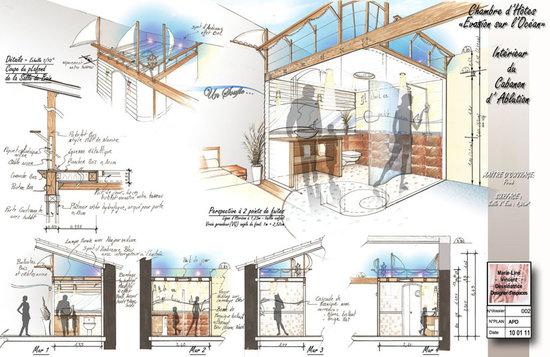 Design d 39 espaces portfolio projets personels for Conception chambre d hote