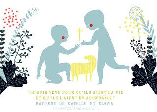 carton de baptême 2010