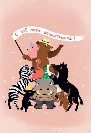 carte-anniv Pirouette cacahouete