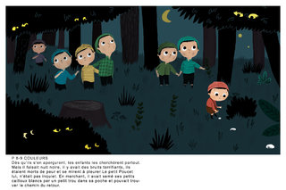 petit poucet ,collec Mon petit monde à décorer coloriages/gommettes Gallimard
