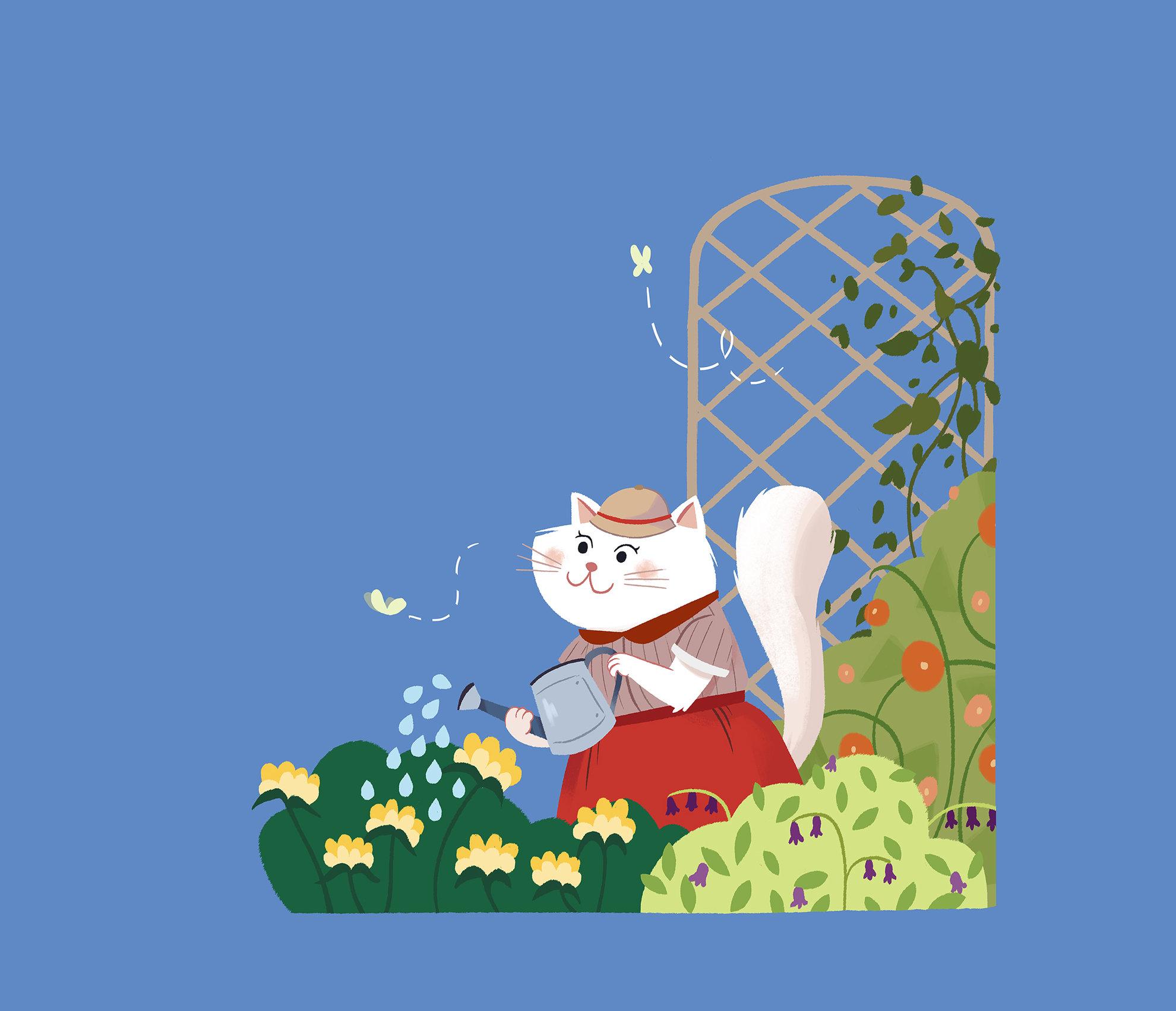 Chat printemps