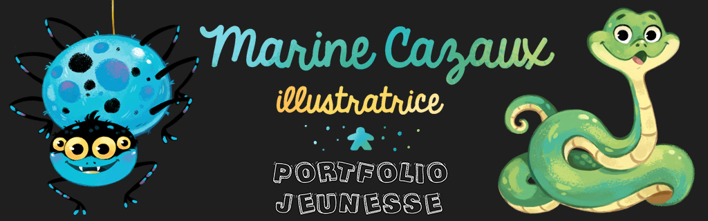 Marine Cazaux illustratriceMes publications : @ CONTACT @