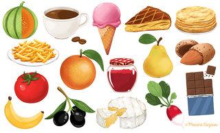 Cartes aliments pour le jeu L'arbre des mots © Jocatop Editions