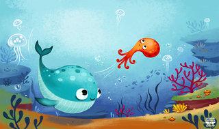 Histoires d'animaux de la mer à lire avec papa et maman © FLEURUS Éditions 2015